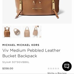 6b8734362bdbac Michael Kors Bags - Michael Kors Bucket Backpack